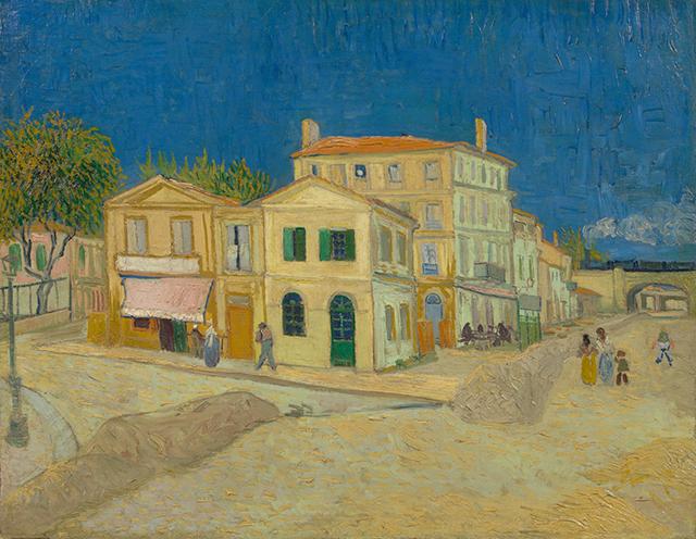 Vincent VanGogh La casa gialla, Arles 1888. È conservato al Van Gogh Museum di Amsterdam