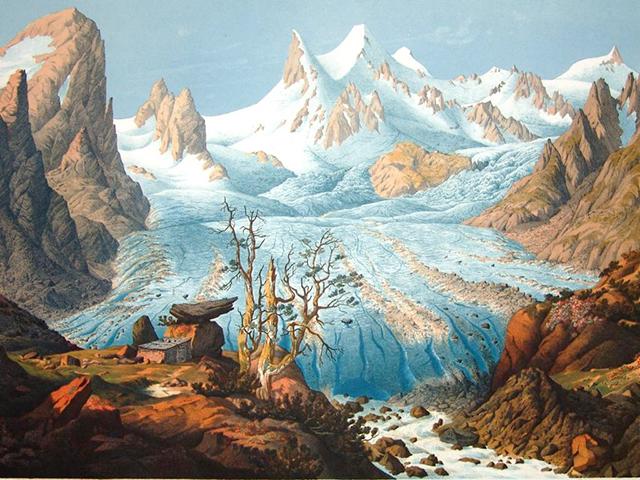 Gletscherphaenomene è un opera che fa parte della raccolta di schizzi, vedute e stampe  di Friedrich Simony (1813-1896), ora riunite in una collezione conservata all'Università di Vienna  presso la Fachbereichsbibliothek Geographie und Regionalforschung.