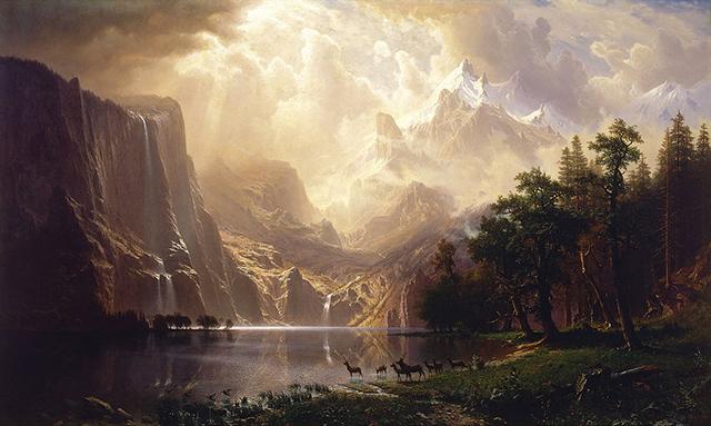 Albert Bierstadt, Among the Sierra Nevada Mountains, California, 1868,  Smithsonian American Art  Museum, Washington, DC.