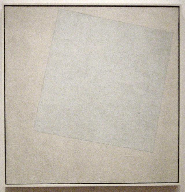 Kazimir Severinovič Malevič, Quadrato bianco su sfondo bianco, 1918, MoMa, New York.