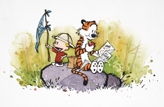 Calvin e Hobbes hanno preso pieno possesso del loro mondo fantastico