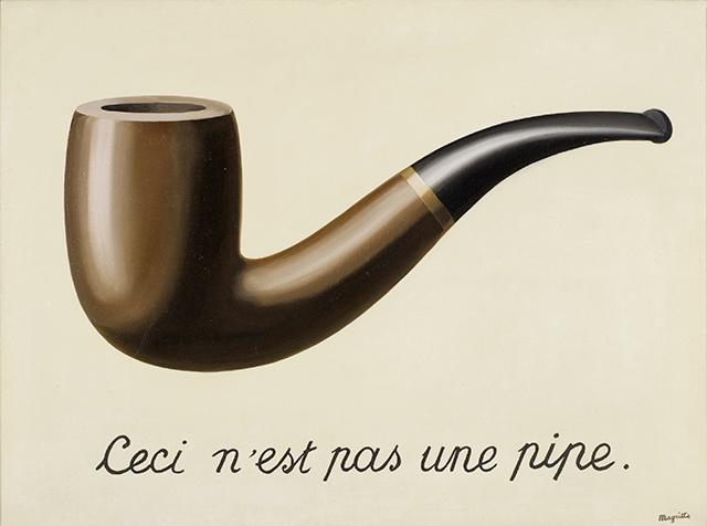 René Magritte, La trahison des images (Ceci n'est pas une pipe), 1929, Los Angeles County Museum of Art