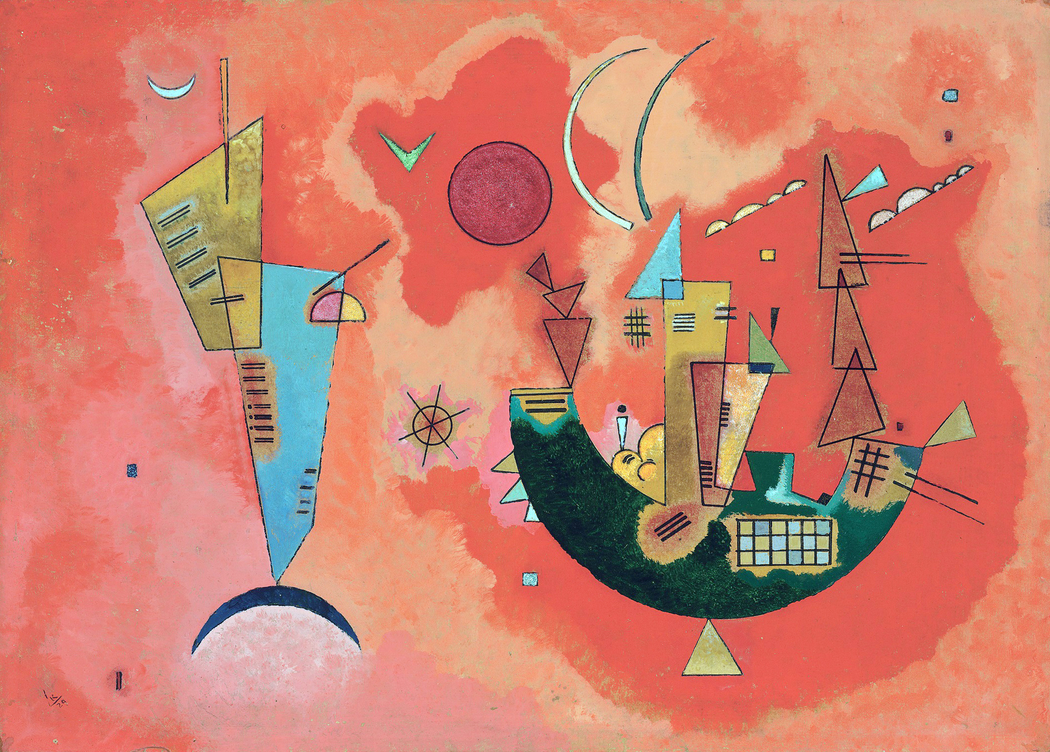 Vassily Kandinskij, Mit und Gegen, 1929