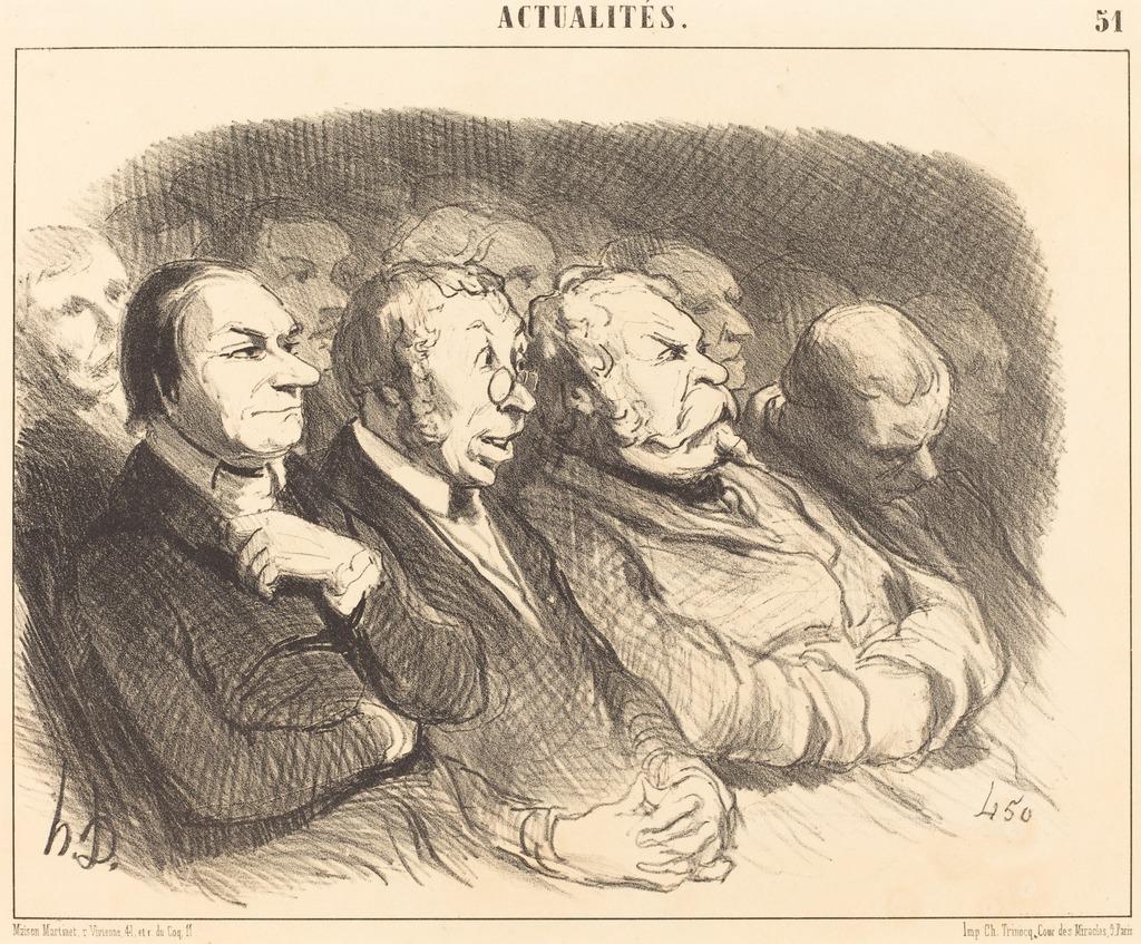 Honoré Daumier, Physionomies de spectateurs de la Porte St.-Martin