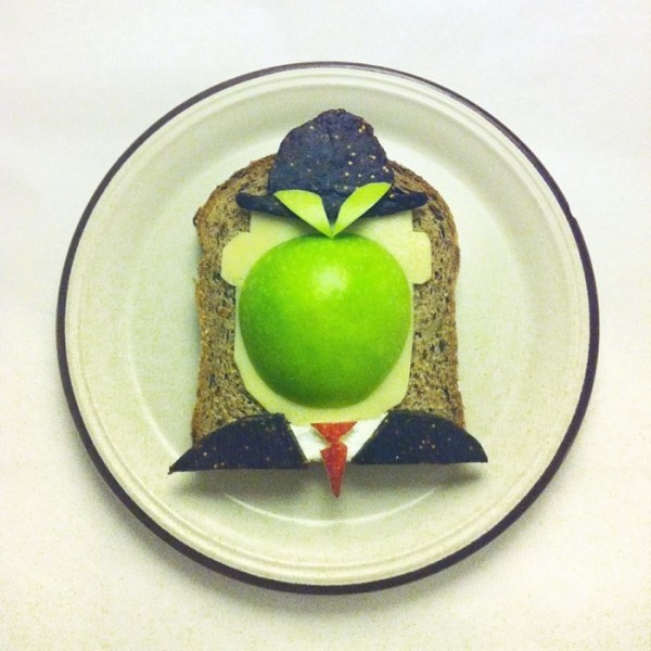 1-René Magritte cucinato con arte da Ida Frosk.
