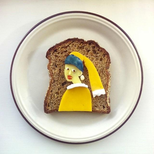 3-La ragazza con l'orecchino di burro di Jan Vermeer.