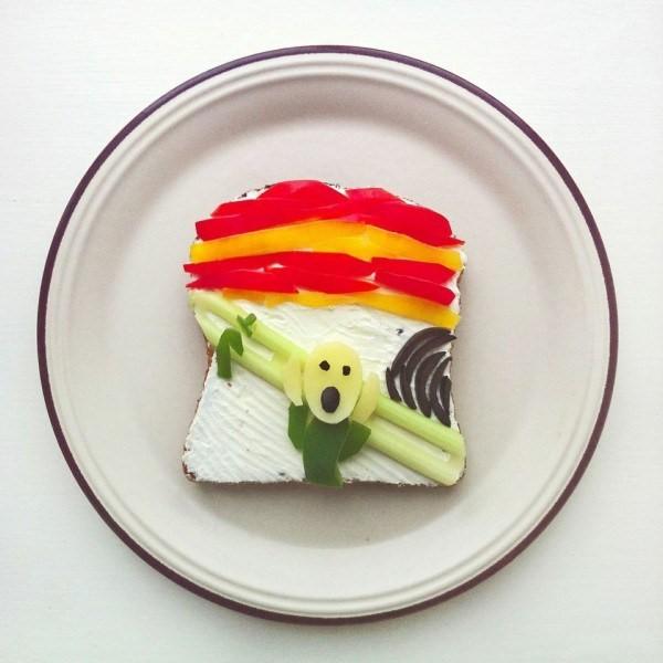 4-Un toast da urlo per Edvard Munch.