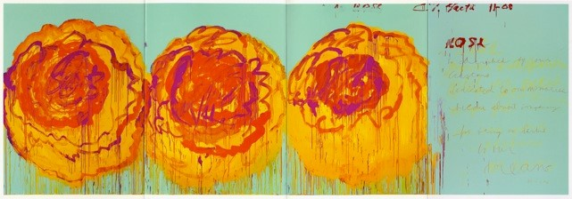 Cy Twombly, The Rose (I), 2008.