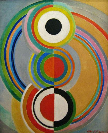 Sonia Delaunay, Rythme, 1938, Musée National d'Art Moderne, Centre Pompidou, Paris. La forma rivendica i suoi diritti musicali.Il colore s'incarica delle altezze del suono, del timbro e batte il tempo con il pennello.