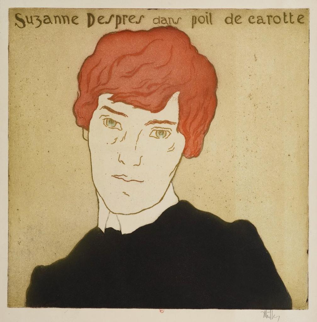 Nel 1900 Suzanne Desprès, a venticinque anni, interpreta il sedicenne Pel di carota.  Senza arrossire ma con gran successo (Source gallica.bnf.fr / Bibliothèque nationale de France)