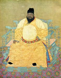L'Imperatore Giallo è figura leggendaria, ma il giallo è stato colore prediletto dal potere in Cina ben dentro i documenti della storia. Questo, ad esempio, è l'imperatore Xuande, sul trono tra il 1425 e il 1435.
