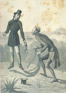 Il diavolo prende possesso dell'ombra di Peter Schlemihl. È un incisione di Carl Mayer (1802-1872), tratta da un disegno di Johann Baptist Zweckwer, che illustra un'edizione del libro di Adalbert von Chamisso pubblicata intorno agli anni 50 dell'Ottocento.