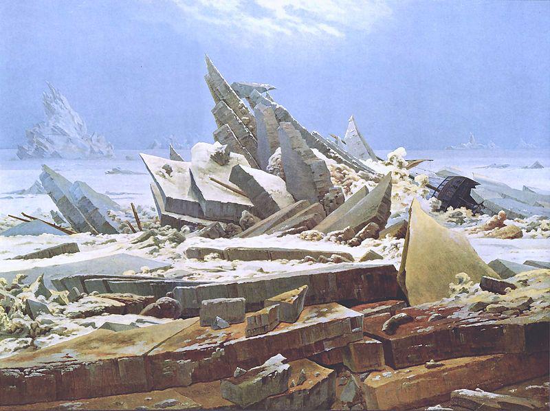 Caspar David Friedrich, Das Eismeer, 1823/24, Hamburger Kunsthalle.