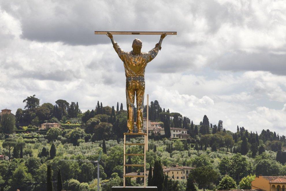 Ian Fabre, L'uomo che misura le nuvole, Forte del Belvedere, Firenze 2016