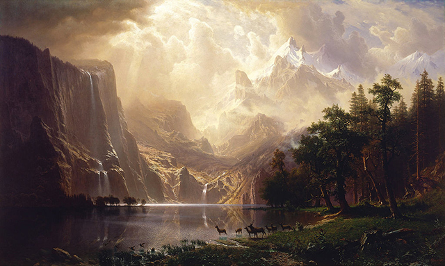 Albert Bierstadt, Among the Sierra Nevada Mountains, California, 1868,  Smithsonian American Art  Museum, Washington, DC.