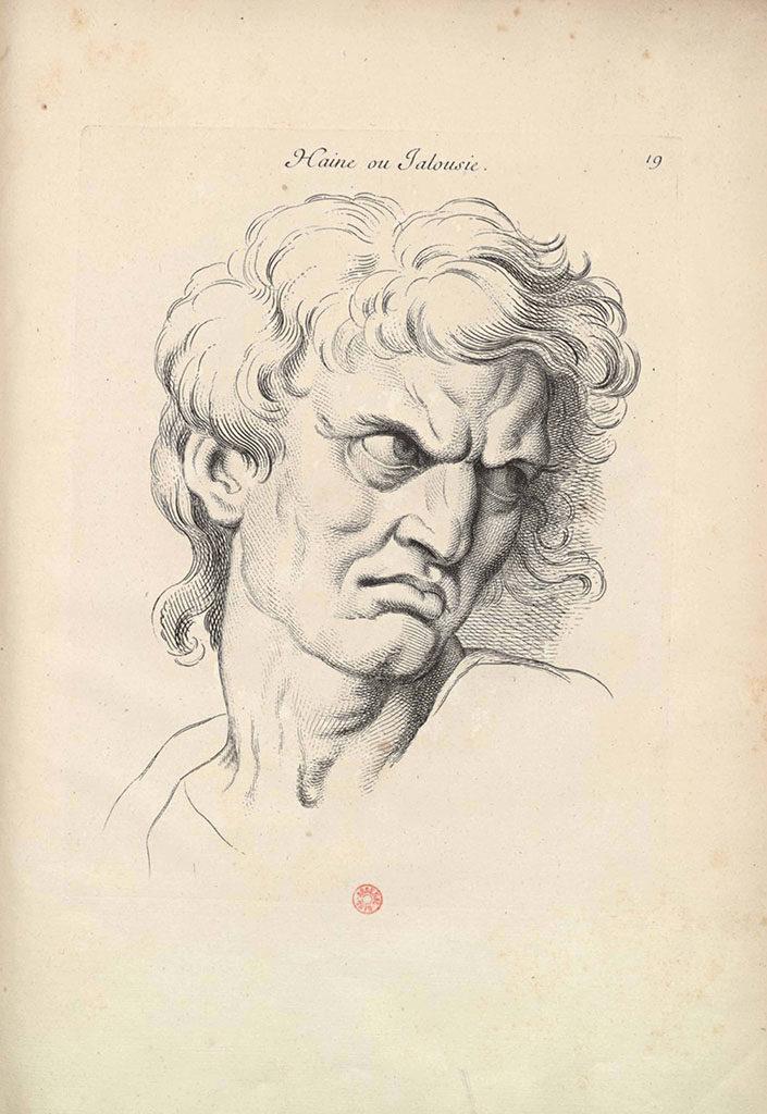 Charles Le Brun, L'Odio o Gelosia